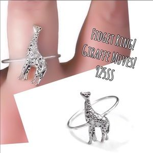 925 Giraffe Fidget Ring
